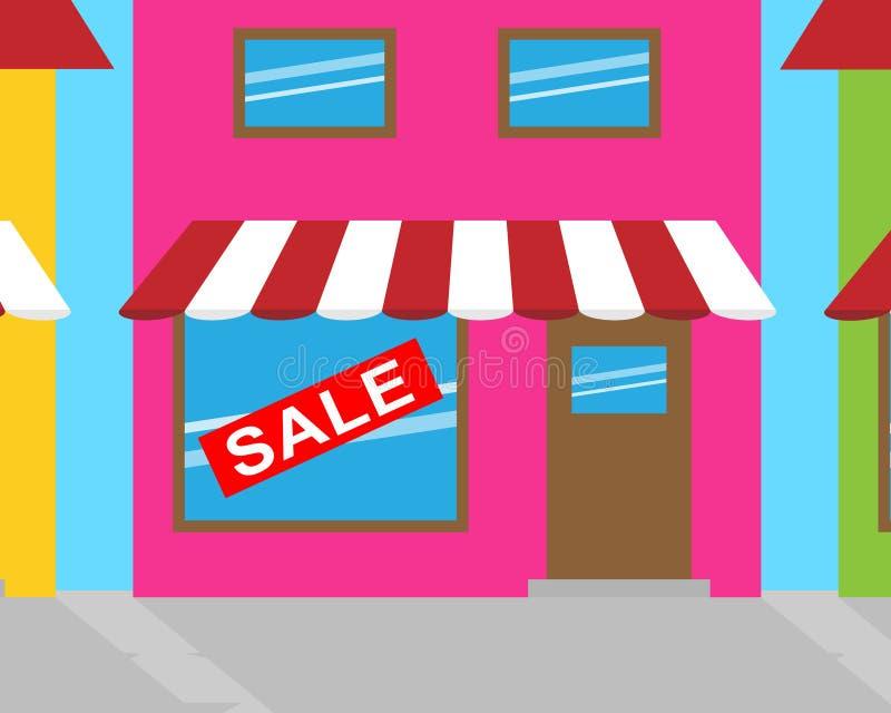 Il segno di vendita rappresenta le mercanzie salvo l'illustrazione 3d royalty illustrazione gratis