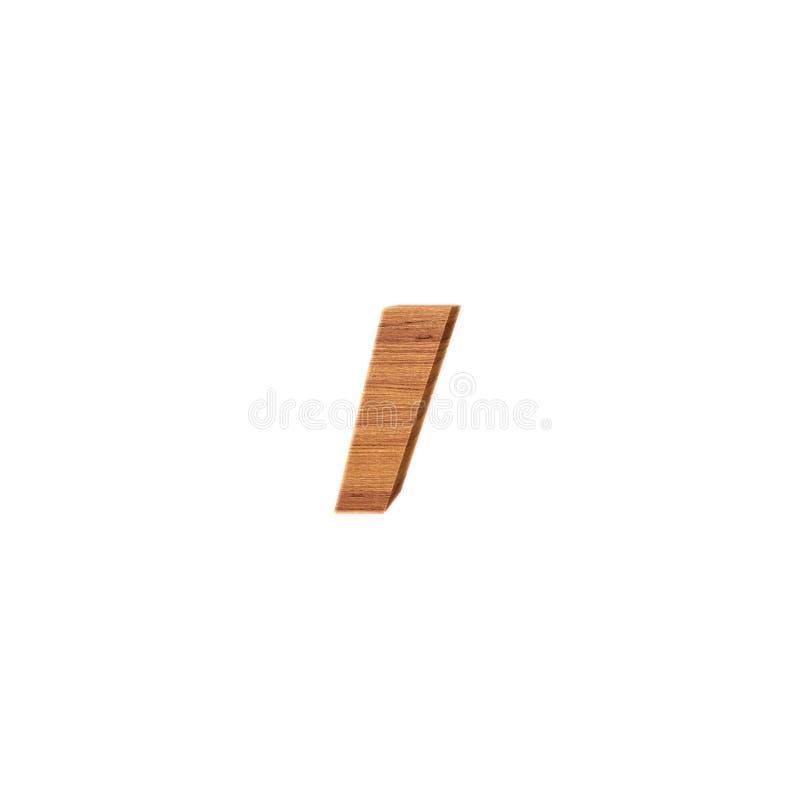 Il segno di virgola in legno, isolato sopra fondo bianco royalty illustrazione gratis