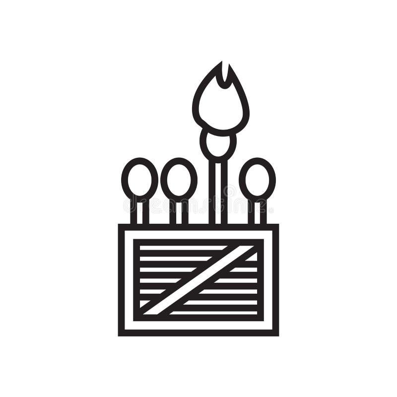 Il segno ed il simbolo di vettore dell'icona delle partite isolati su fondo bianco, abbina il concetto di logo illustrazione vettoriale