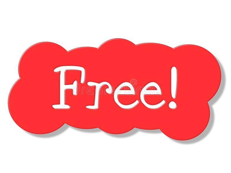 Il segno libero rappresenta per niente e lusinghiero royalty illustrazione gratis
