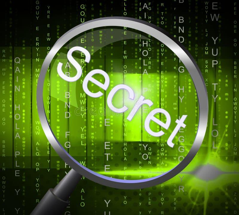 Il segreto della lente rappresenta segreto nascosto ed i segreti royalty illustrazione gratis