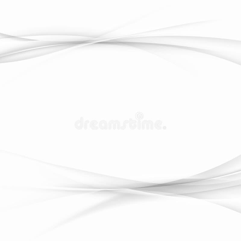 Il semitono astratto allinea la disposizione del fondo della cartella Futuristi grigio illustrazione di stock