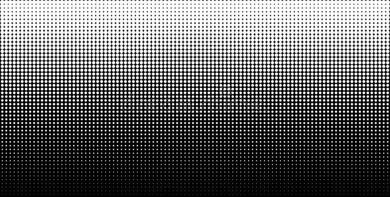Il semitono verticale bianco di pendenza punteggia il fondo, modello orizzontale facendo uso del modello di punti di semitono Ill royalty illustrazione gratis