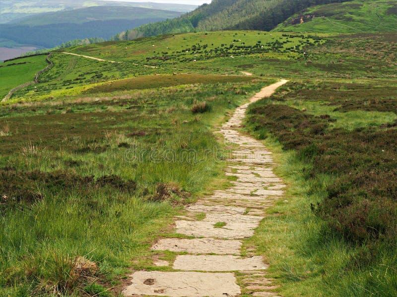 Il sentiero per pedoni a York del nord attracca il parco nazionale, Inghilterra fotografia stock libera da diritti