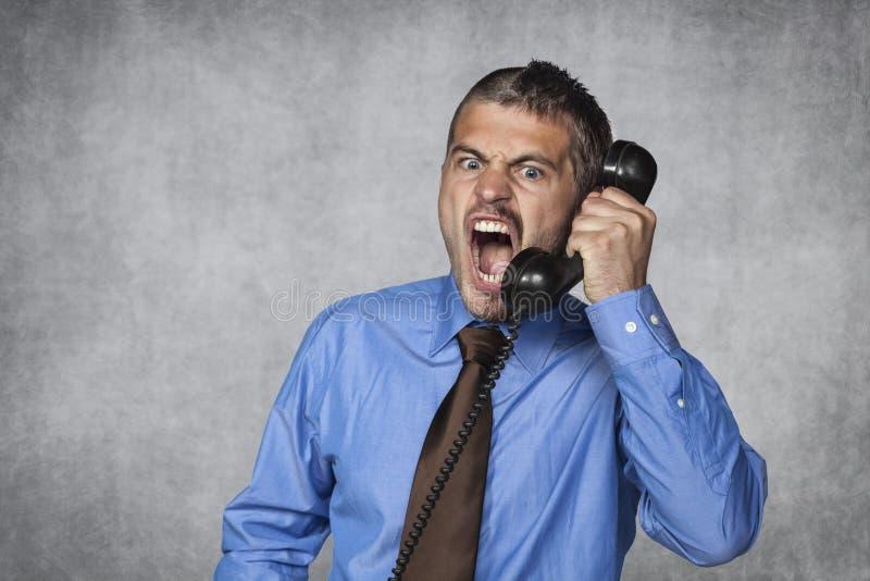 Il servizio di assistenza al cliente sopra il telefono è sempre piacevole fotografia stock libera da diritti