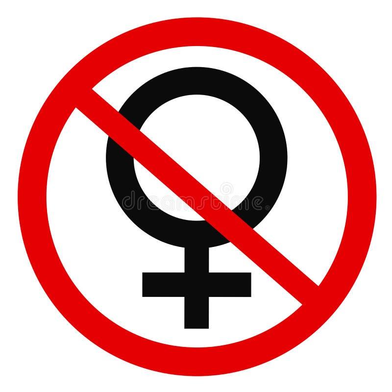Il sesso femminile ed il genere è depennato illustrazione vettoriale
