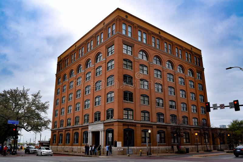 Il sesto museo del pavimento a Dallas, il Texas fotografia stock