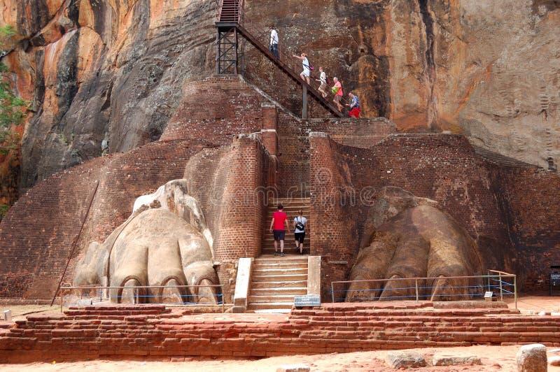 Il Sigiriya (roccia del leone) fotografia stock