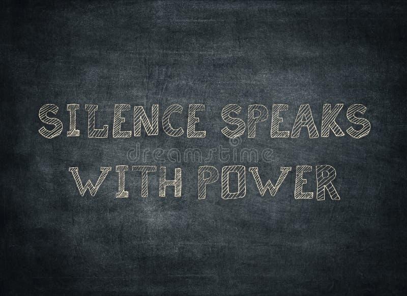 Il silenzio parla i fatti per ascoltare scritto tipografico della verit? di potere immagine stock libera da diritti