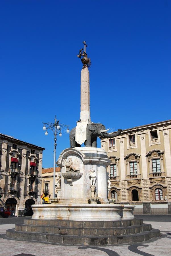 Il simbolo dell'elefante/Catania della fontana immagini stock libere da diritti