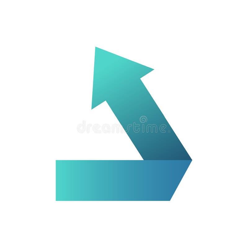 Il simbolo dell'icona o abbottona la freccia blu molto sta accantonando illustrazione vettoriale