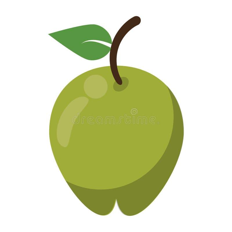 Il simbolo della frutta di Apple ha isolato illustrazione vettoriale
