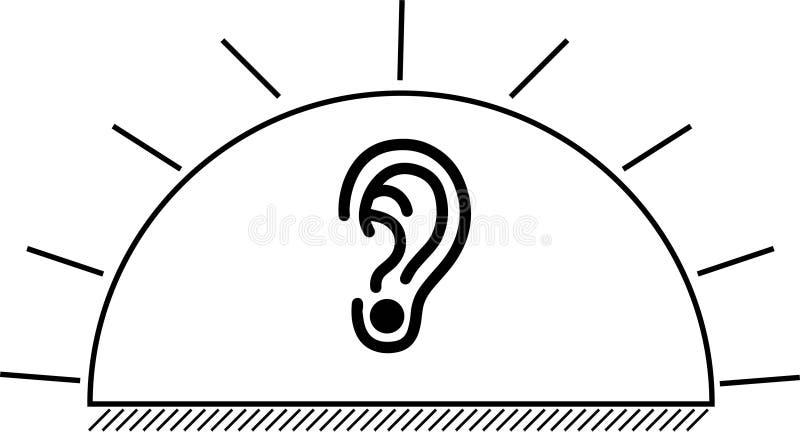 Il simbolo di un orecchio-tunnel ideale fotografie stock