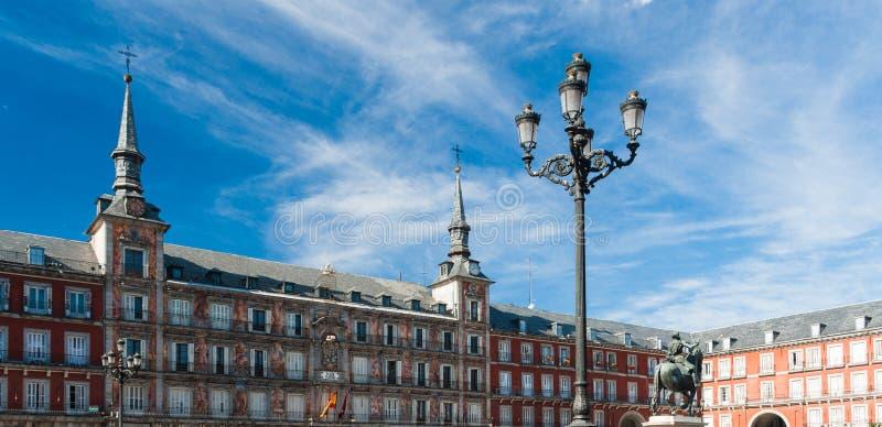 Il sindaco della plaza a Madrid, Spagna immagini stock libere da diritti