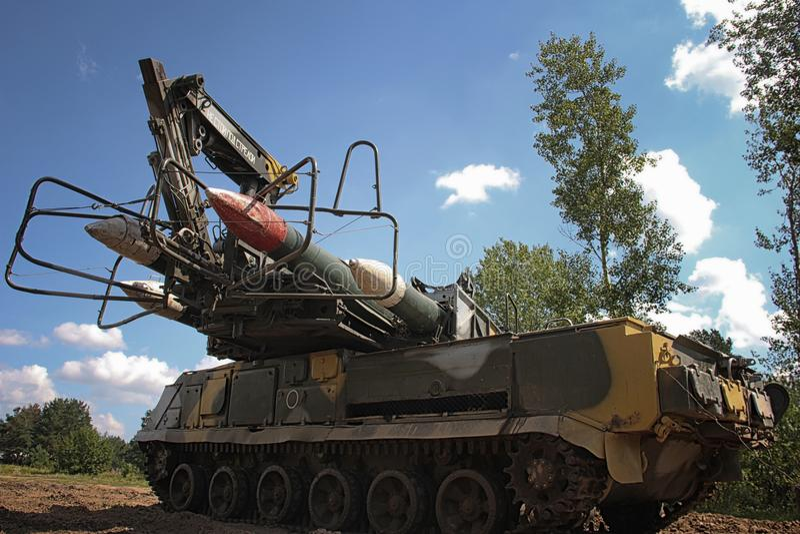 Il sistema missilistico di Buk è una famiglia di automotore immagine stock libera da diritti