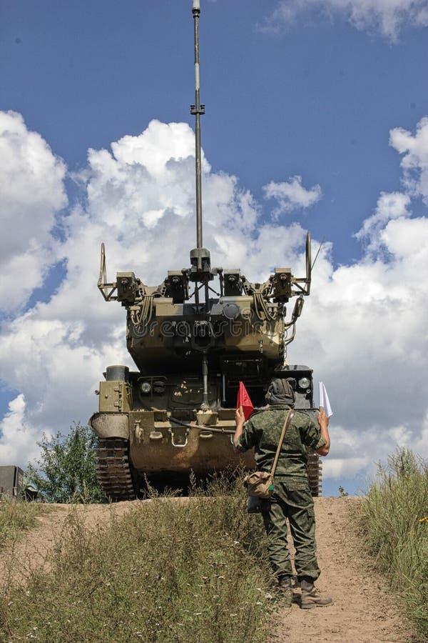 Il sistema missilistico di Buk è una famiglia di automotore fotografia stock