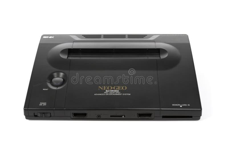 Il sistema neo del video gioco di SNK Geo fotografia stock libera da diritti