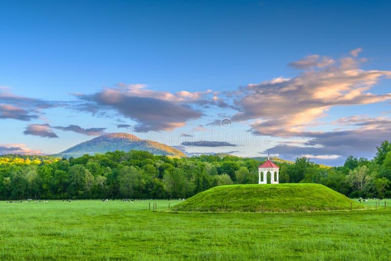 Il sito archeologico del monticello di Nacoochee in Helen, Georgia, U.S.A. immagine stock libera da diritti