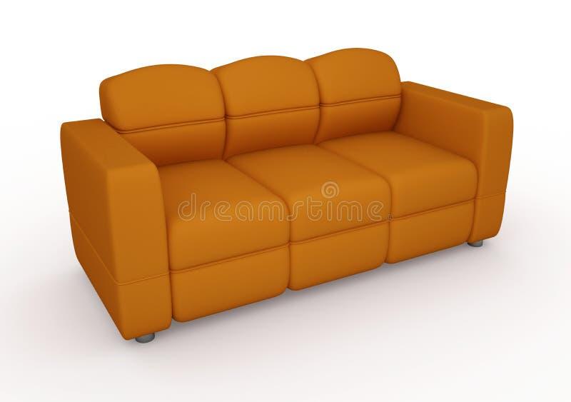 Il sofà arancione royalty illustrazione gratis