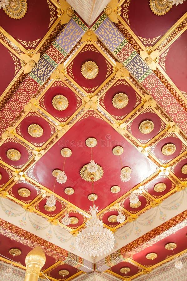 Il soffitto artistico progetta la Tailandia fotografia stock libera da diritti