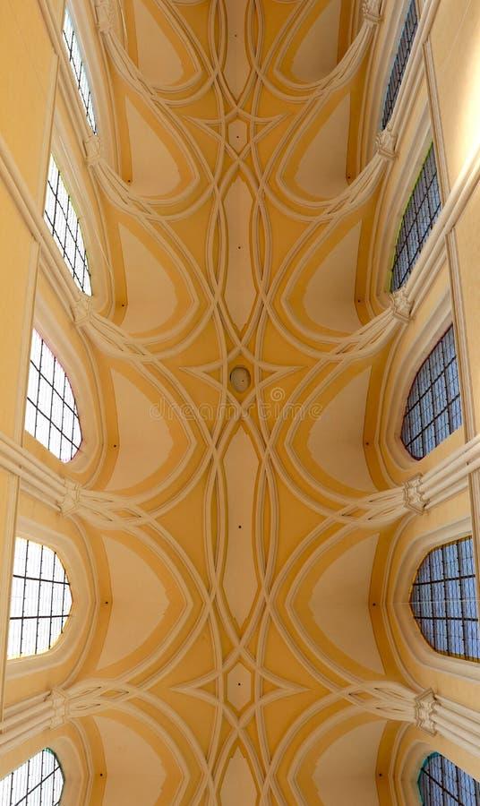 Il soffitto in chiesa della nostri signora e St John fotografie stock
