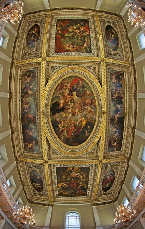 Il soffitto di Rubens, Banqueting Camera fotografia stock libera da diritti
