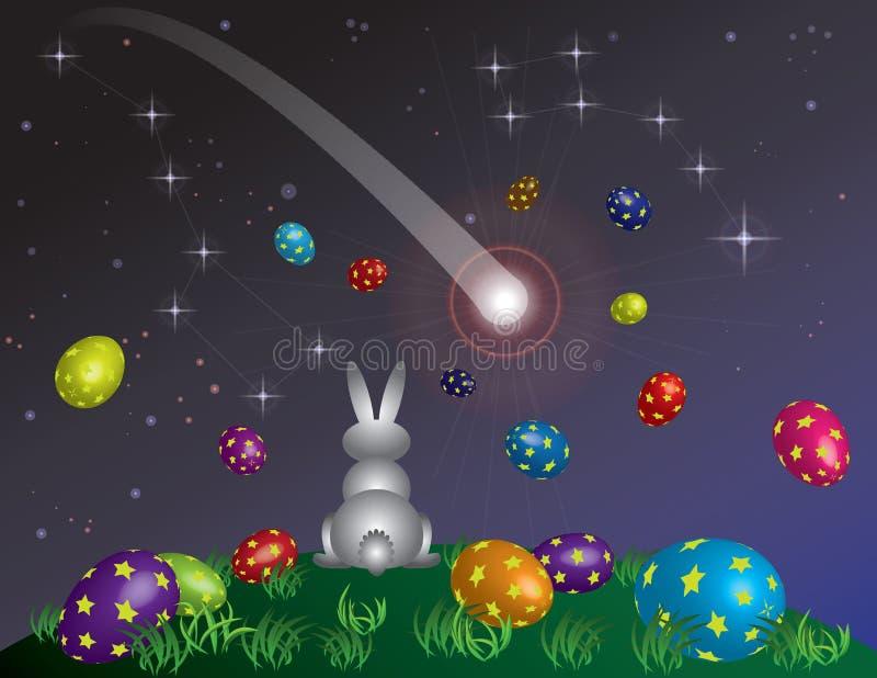 Il sogno di un piccolo coniglietto prima di Pasqua illustrazione vettoriale
