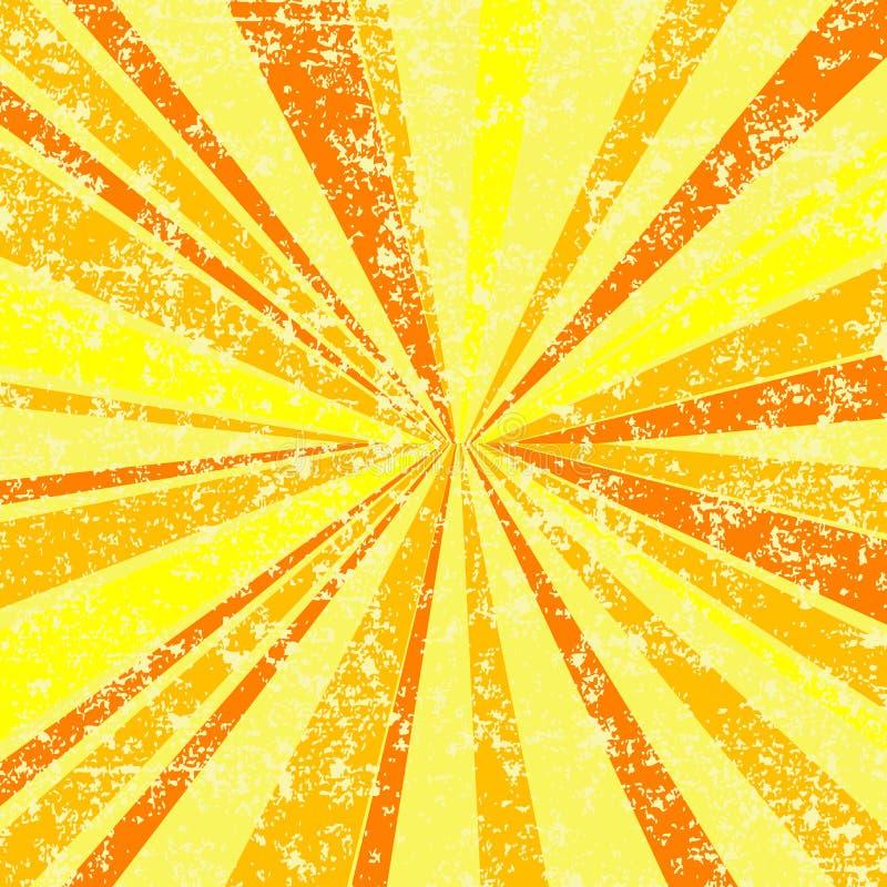 Il sole di Grunge rays la priorità bassa illustrazione vettoriale