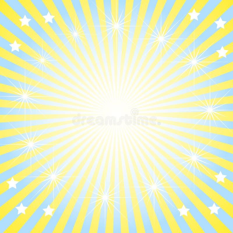 Il sole luminoso della priorità bassa astratta. immagini stock
