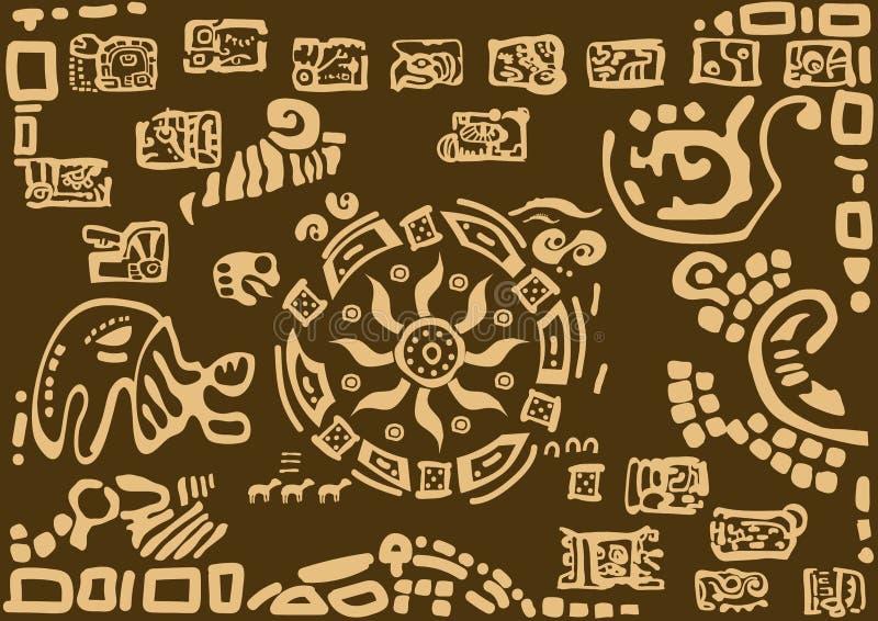 Il sole nei modelli delle civilizzazioni antiche royalty illustrazione gratis