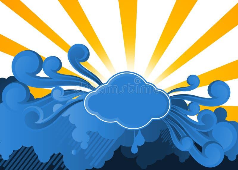 Download Il sole sopra le nubi illustrazione di stock. Illustrazione di background - 7320826