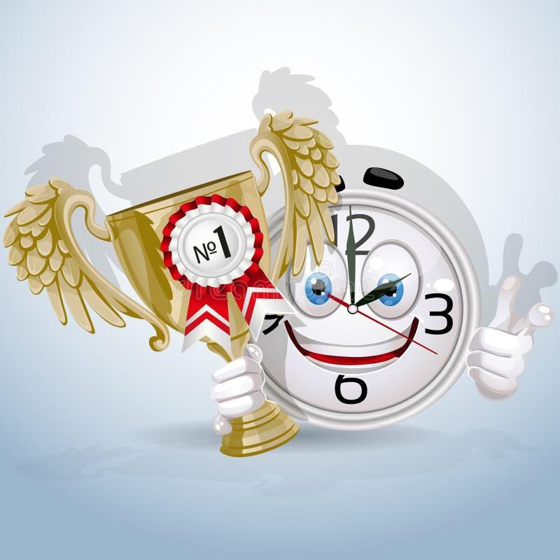 Il sorriso della vigilanza dà il premio al migliore impiegato royalty illustrazione gratis
