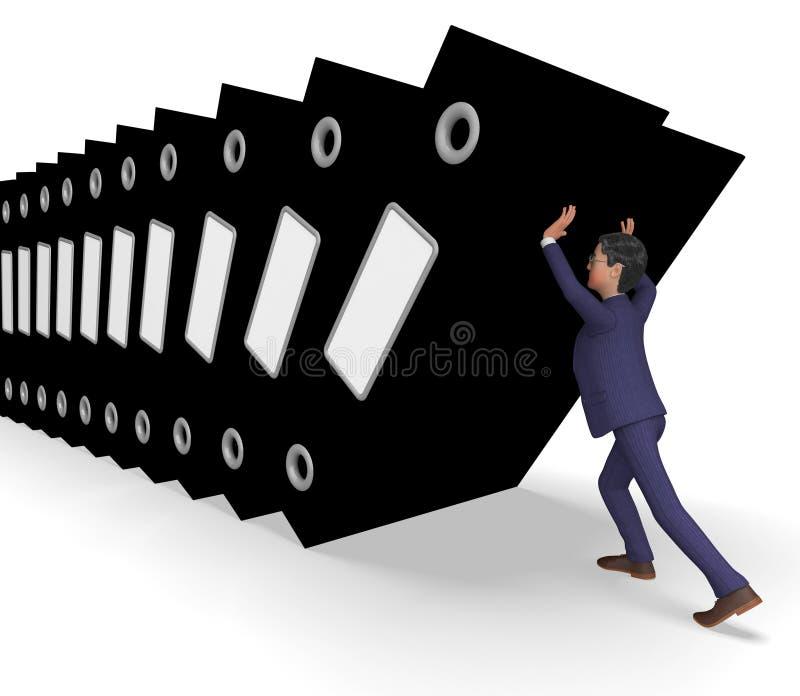 Il sovraccarico di informazioni rappresenta l'uomo d'affari And Biz di commercio royalty illustrazione gratis
