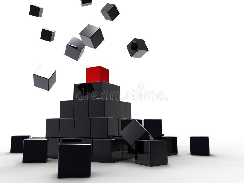 Il successo del cubo rosso illustrazione di stock