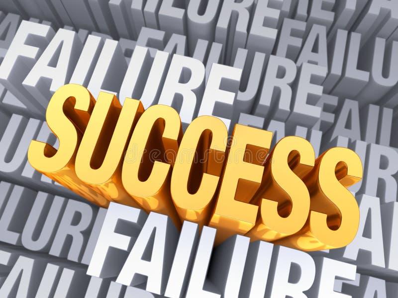 Il successo emerge da guasto illustrazione di stock