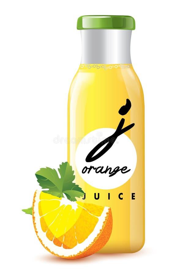 Il succo d'arancia può isolato fotografie stock