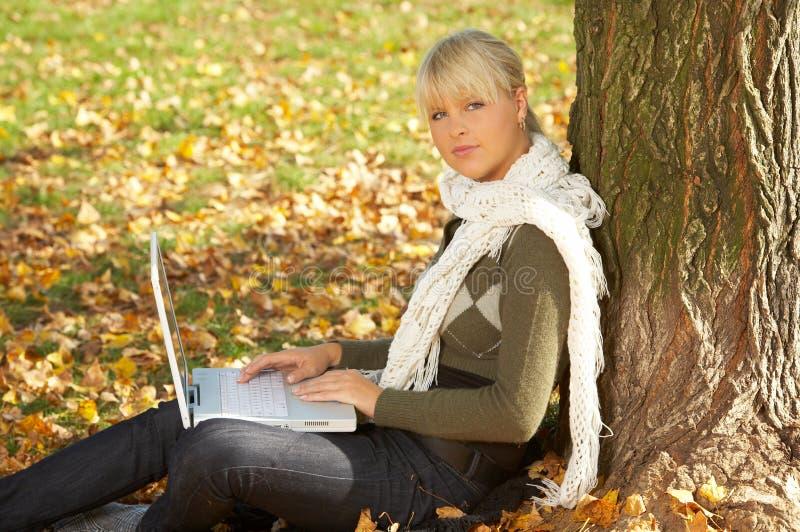 Il suo autunno! immagini stock libere da diritti
