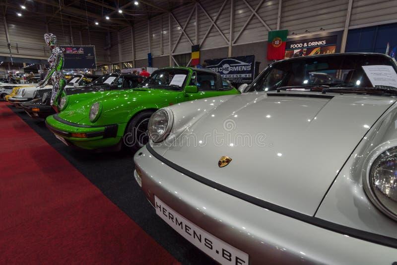 Il supporto delle automobili sportive concentrare Hermens, Belgio fotografie stock libere da diritti