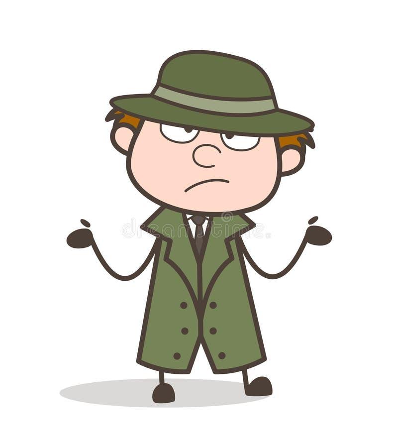 Il ` t di Don dell'agente investigativo del fumetto conosce che cosa fare l'illustrazione di vettore royalty illustrazione gratis