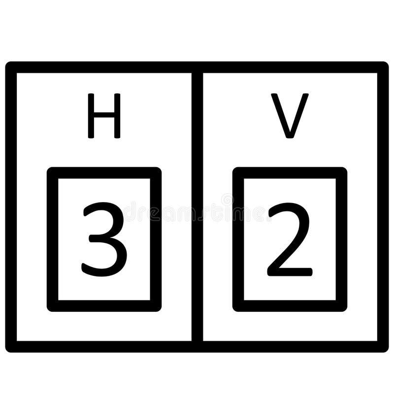 Il tabellone segnapunti, vettore di conteggi che può essere modificato o pubblicare facilmente il tabellone segnapunti, conta il  illustrazione di stock