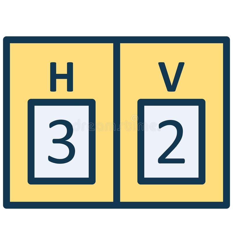 Il tabellone segnapunti, vettore di conteggi che può essere modificato o pubblicare facilmente il tabellone segnapunti, conta il  royalty illustrazione gratis