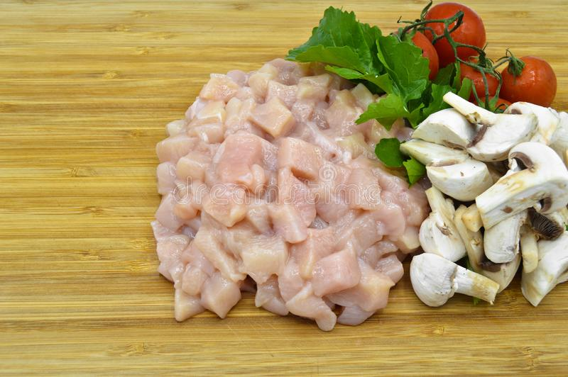 Il taglio fresco e pulito del petto di pollo julien immagini stock libere da diritti