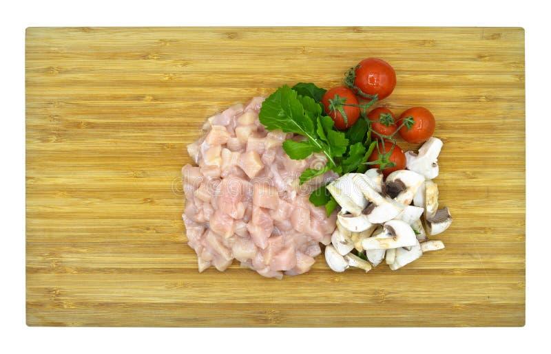 Il taglio fresco e pulito del petto di pollo julien fotografia stock