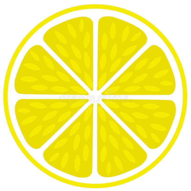 Il taglio succoso fresco del limone della calce ha affettato la sezione royalty illustrazione gratis