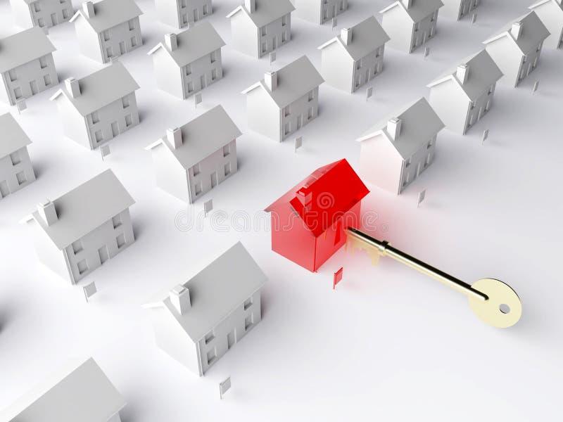 Il tasto al mercato degli alloggi royalty illustrazione gratis