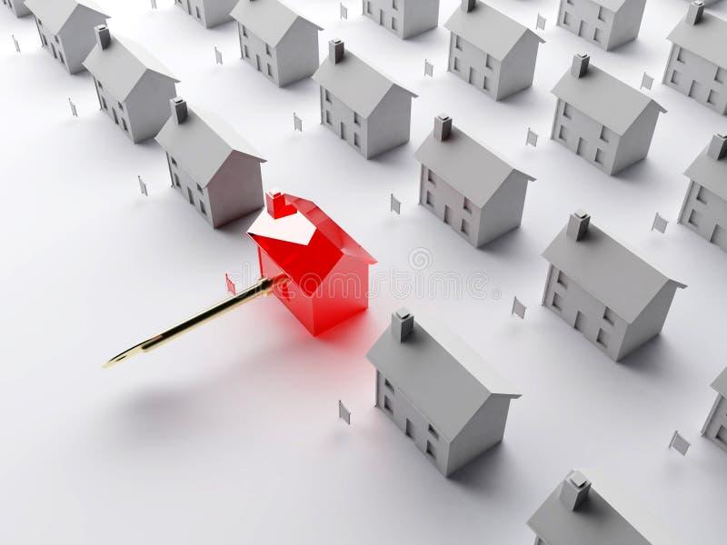 Il tasto al mercato degli alloggi illustrazione vettoriale