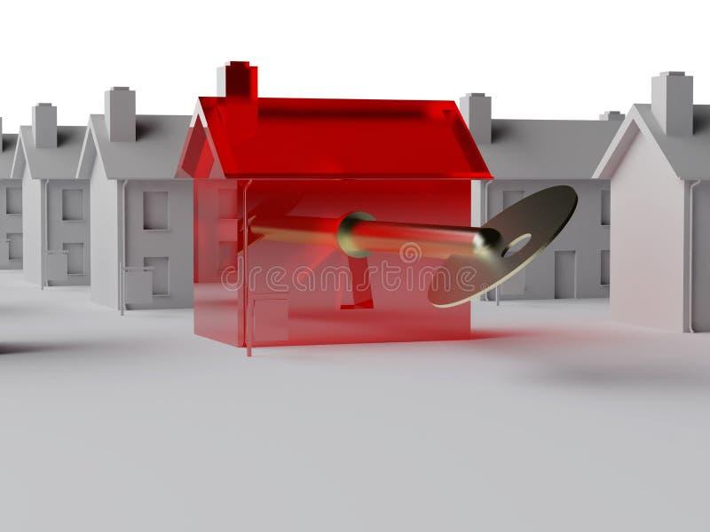 Il tasto al mercato degli alloggi illustrazione di stock