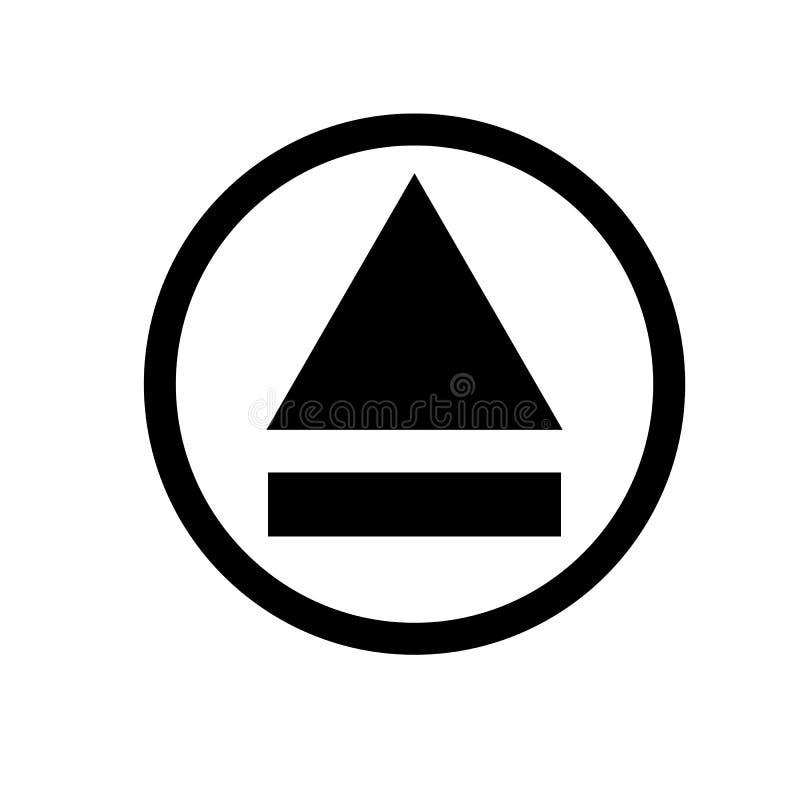 Il tasto di espulsione, espelle l'icona illustrazione vettoriale