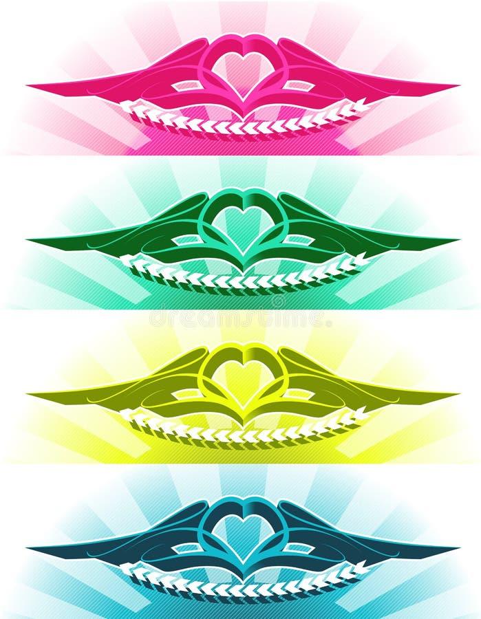 Il tatuaggio del cuore royalty illustrazione gratis