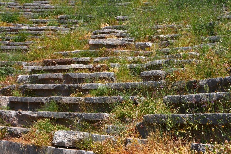Download Il Teatro Antico A Delfi, Grecia Immagine Stock - Immagine di pietra, greece: 7315075